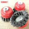 "Cup Brush Knotted 4"" Diameter Wheel Brushes"