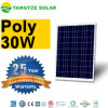 Popular 12V 30W Poly Pet Laminated Solar Panel