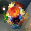 Glass Flower Plates Chandelier for Dining Room