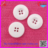 Plastic 4 Holes White Flat Back Buttons Resin Button (XDJZ-008)
