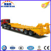 13m*3m*1.5m 2 Axles 60tons Lowboy Semi Truck Trailer