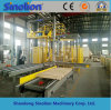 Automatic Pallet Strapping and Wood Strip