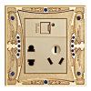 Brass USB Socket / USB Charger / USB Wall Socket
