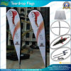 Super Knitted Polyester Custom Logo Advertising Teardrop Flying Banner (J-NF04F06054)