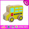 2015 Newest Yellow Cute Kid Wooden Toy School Bus, Popular School Bus Toy for Children, Best Saler Wooden Car Toy for Baby W04A110