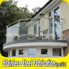 304 Stainless Steel Handrail Clear Glass Balcony Balustrade