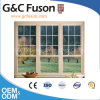 Single Hung Aluminium Window with French Grill Design