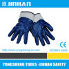 Black Nitrile Coated Jersey Lining Safety Cuff Gloves (A-3004C)