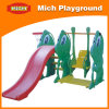 Baby Plastic Slide and Swing for Home (1197B)