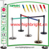 Stainless Steel Crowd Queuing Barrier Post with Adjustable Belt