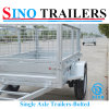Autralian Farming Flat Steel Sides Single Axle Cage Trailers