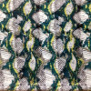 Printed Silk Cdc in Snake Skin Design