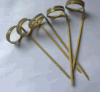 Wholesale Bamboo Loop Skewer with Knotted