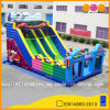 Colorful Car Racing Inflatable Slide Double Lane Slide Fun City for Kid (AQ1146)