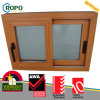 PVC Hurricane Impact Sliding Windows with Woodgrain Color