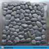 Black Stone Wall Pebble Decoration