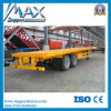 2 Axle Flatbed Semi Trailer with Bogie Suspension