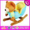 Popular Wooden Plush Rocking Toy, Wooden Balance Rocking Toy, Giocattolo a Dondolo, Wooden Rocking Bear Toy, Rocking Toy W16D080