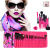Fashion Pattern 25PCS Professional Cosmetic Brush Top Grade Wood Handle Makeup Brush
