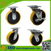 Heavy Duty Yellow PU Caster Wheel