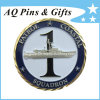 3D Challenge Coin with Gold + Nickel Plating, Military Coin