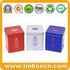 Embossed Square Tea Caddy Tin for Metal Tea Tin Box