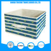 2017 Popular Non-Woven Green Stripe and Dots Printed Storage Bag Box Foldable Box