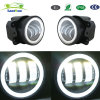 Emark 4 Inch CREE LED Fog Lights Spot Beam White Halo Ring Front Bumper Lamp for Jeep Wrangler off-Road (2PCS)