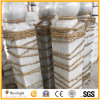 Cheap Polished White Marble Upright Column Ball for Balustrade