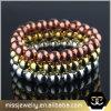 Gold Sterling Silver Bead Bracelet for Men Mjb045