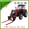China 95HP Four Wheels Cabin Farm Tractors with Pallet Fork