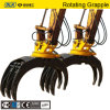 Jisan Brand Rotating Type Wood Grapple for Excavator