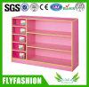 Pink Color Kids Toy Wooden Cabinet Kindergarten Furniture Design
