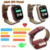 Colorful Touch Screen Elderly GPS Tracker Watch with Heart Rate Monitor D28