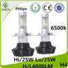 Philips 50W H4 H/L LED Car Headlight 8000lm 6500k