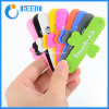 Promotion Gifts Logo Printing Sticky Silicone Touch U Phone Stand Holder