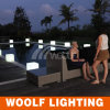LED Cube Seat Lighted up Swimming Pool