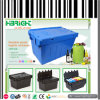 Plastic Nestable and Stackable Storage Crate Box