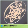 Round Decorative Glass with White Silk Screen Printing for Christmas Tree