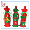 Christmas Tree Red Wine Bottle Cover Bags and Gift Bags / Candy Bags for Christmas Decoration