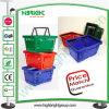 Plastic Double Handles Shopping Basket for Big Supermarket