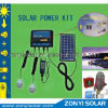 Solar Mobile Charger with Two Light and Batteries for Radio