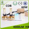 Newest COB LED Auto Headlight High Power 60W 4000lm H4