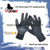 13G Polyester/Nylon Palm Black PU Coated Glove