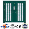 Double French Exterior Security Steel Glass Door (W-GD-28)