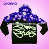 Custom Mens Allover Sublimation Print Leather Sleeve Sweatshirt