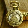Wholesale Eiffel Tower Rome Number Quartz Pocket Watch