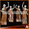 Four Season Women God Garden Statues with Pink Onyx Carving