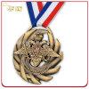 Custom Embossed Antique Bronze Plated Medal