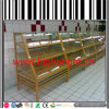 Three Tiers Solid Wood Bread Rack with Acrylic Cover and LED Light
